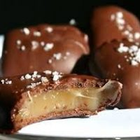 Chocolate Covered Bourbon Caramels