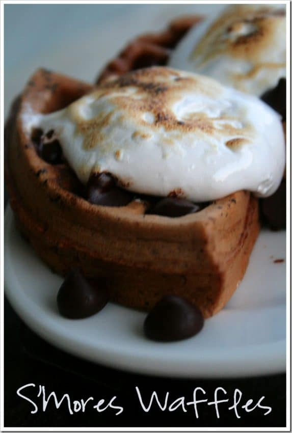 S'mores Chocolate Waffles