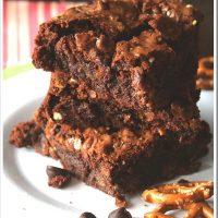 Fudgy Caramel Pretzel Brownies