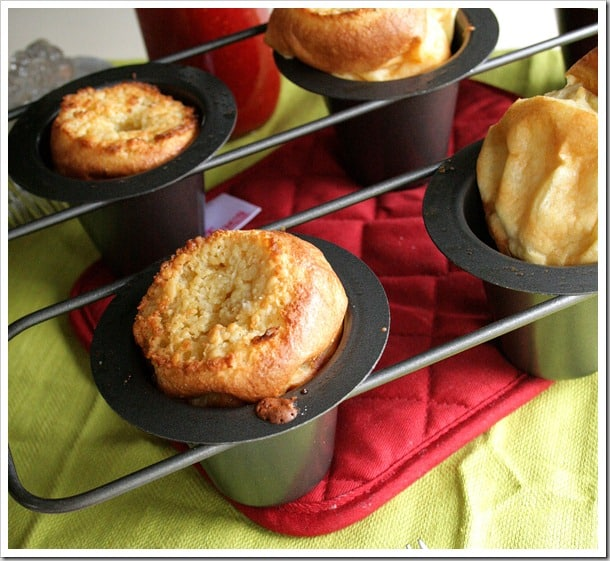 Buttery Coconut Popovers with Fresh Strawberry Syrup