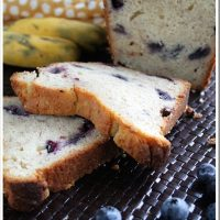 Blueberry Banana Bread with Cream Cheese