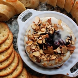 Baked Brie with Grape Balsamic Compote