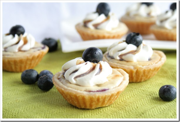 blueberry cheesecake pies grill