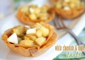 Mini White Chocolate and Apple Tarts