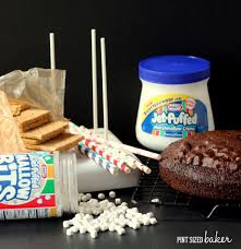 Some of the ingredients that you will need to make your S'mores Cake Pops.