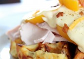 Kentucky Hot Brown Potato Waffles…with Idaho® Potatoes