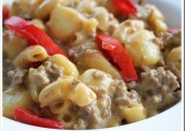 Cheesy Hamburger Ranch Mac and Gnocchi