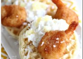 Shrimp and Waffles with Pina Colada Sauce…#CoastIntoSummer and a Huge Giveaway!