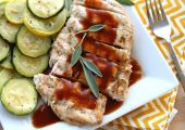 Brick Grilled Chicken with Cola Sauce