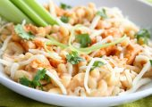 Buffalo Chicken Pizza Macaroni and Cheese…and a Giveaway