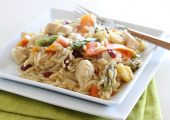 Apple Cranberry Chicken Orzo
