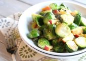 Sautéed Brussels Sprouts with Apples