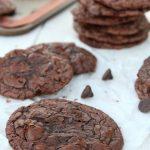 Caramel Filled Brownie Cookies