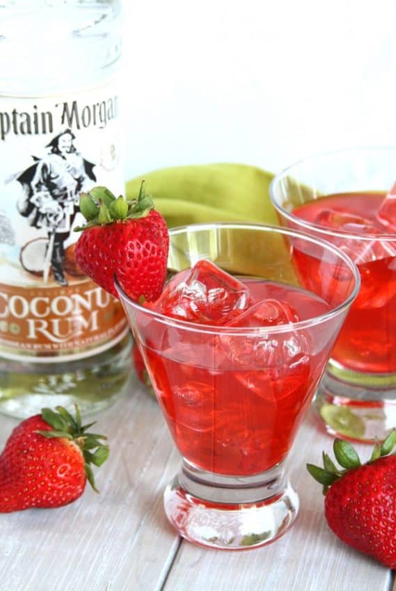 strawberry coconut rum