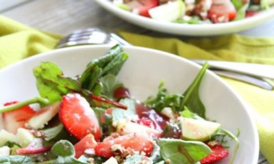 Baby Greens and Strawberry Salad…Get Up and Grow with Dole