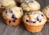Wild Blueberry Cornbread Muffins