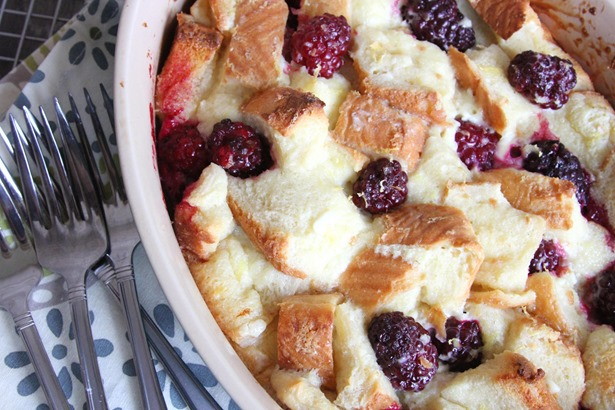 Blackberry Cream Cheese French Toast Bake