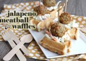 Spicy Jalapeno Meatballs and Waffles