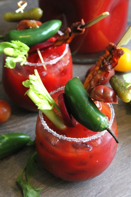 Spicy Beet Bloody Mary
