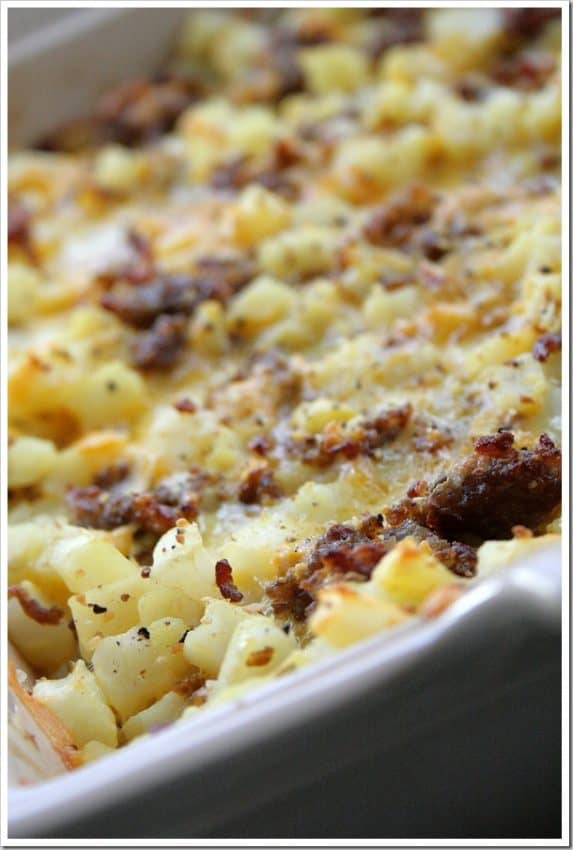 Cheesy Potato Breakfast Bake