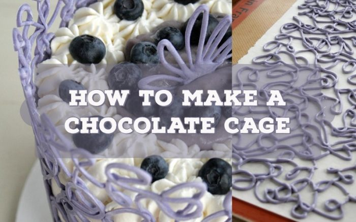 make a chocolate cage