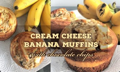 cream cheese banana muffins