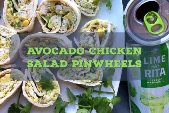 Avocado Chicken Salad Pinwheels