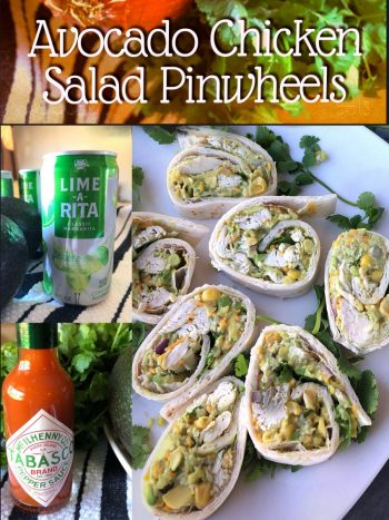 Avocado Chicken Salad Pinwheels Pin