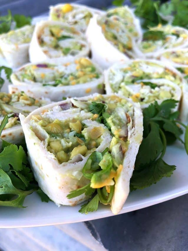 Avocado Chicken Salad Pinwheel 2