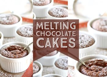 melting chocolate cakes