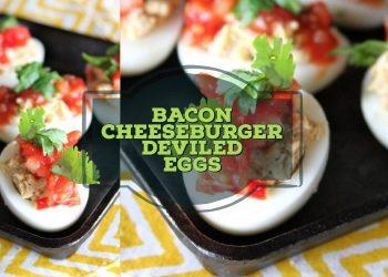 bacon cheeseburger deviled eggs