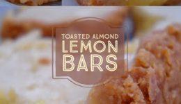 toasted almond lemon bars