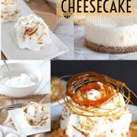 Salted Caramel Banana Pudding Cheesecake Flambé