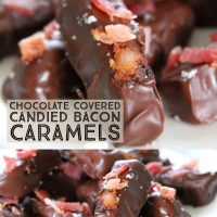 Chocolate Covered Candied Bacon Caramels