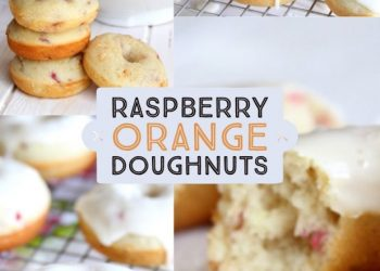 raspberry orange doughnuts