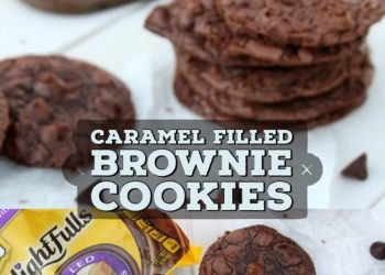 brownie cookies with caramel