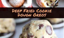 deep fried cookie dough oreos