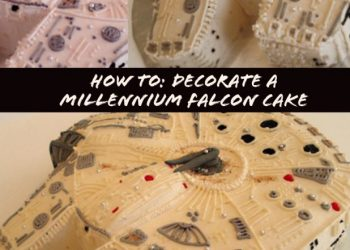 how to decorate a millennium falcon cake