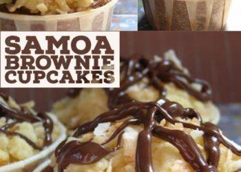 samoa brownie cupcakes