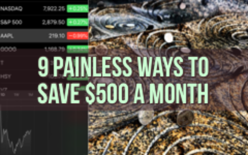 save $500 month