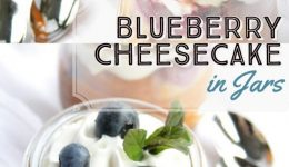 blueberry cheesecake in jars