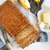 Coconut Rum Lime Glazed Banana Bread