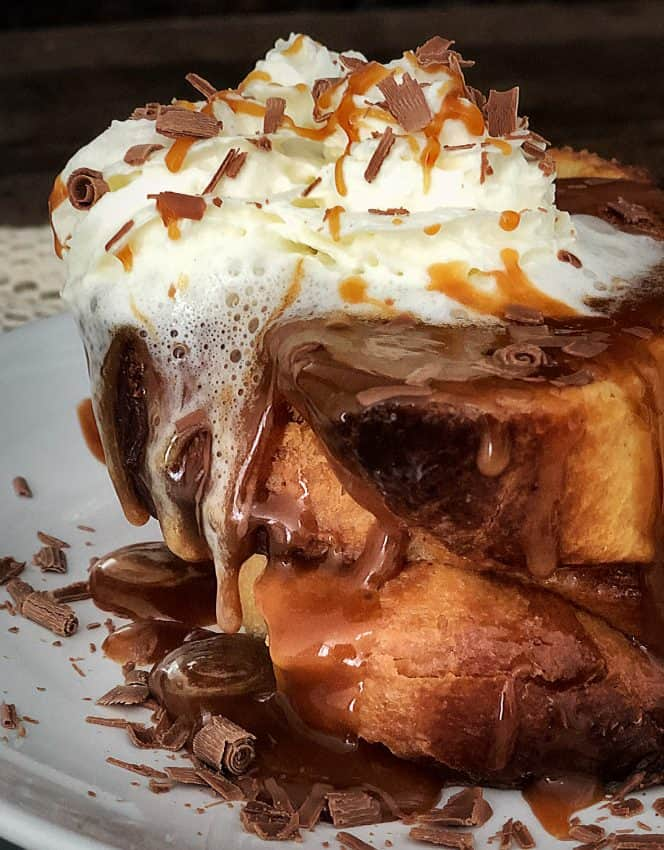oozing caramel french toast