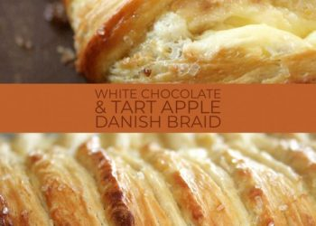 white chocolate apple danish