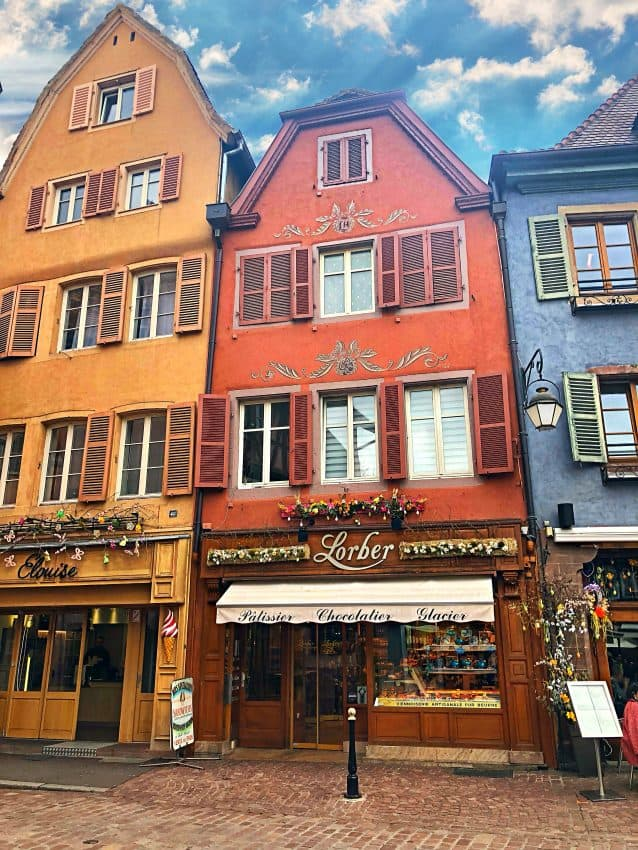 decorated buildings in Colmar