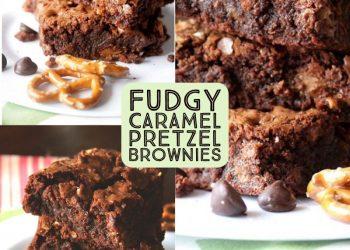 fudy caramel pretzel brownies