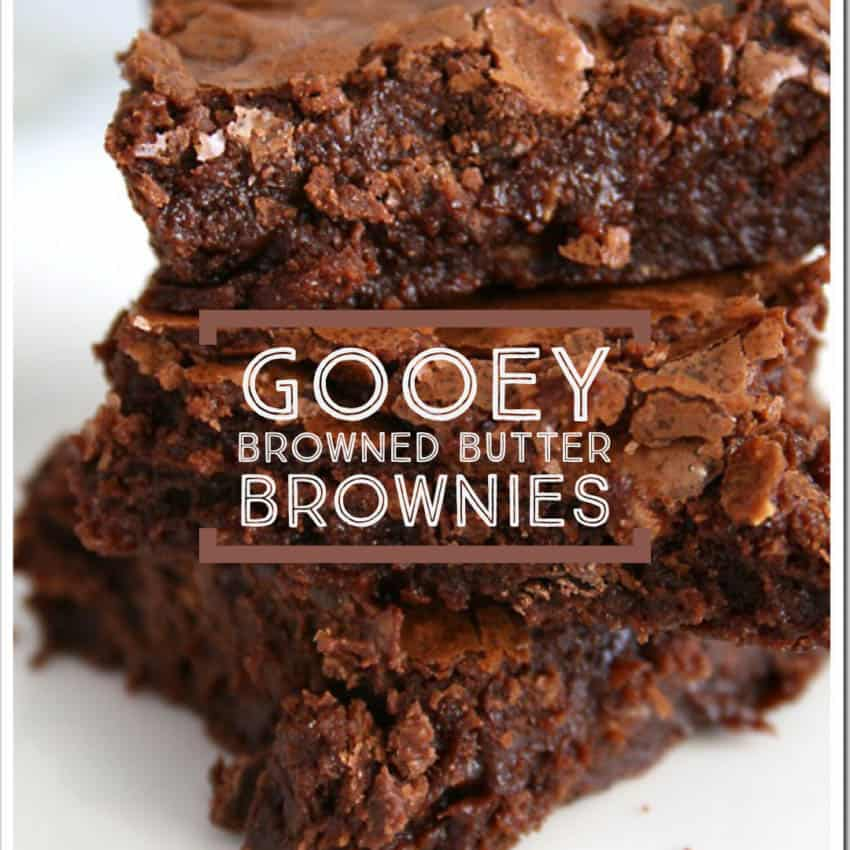 The rich, nutty flavor the browned butter adds takes an already incredible chocolate treat and turns it into magic!